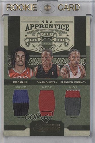 Brandon Jennings; DeMar DeRozan; Jordan Hill #9/10 (Basketball Card) 2009-10 Timeless Treasures - NBA Apprentice Triple Materials - Prime #4