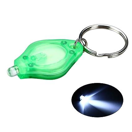 Leslaur Mini llavero de LED Linterna Llavero de LED ultra ...