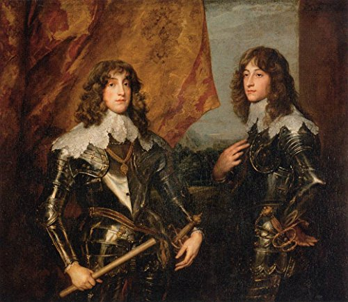 Portrait of the Princes Palatine Charles-Louis I and his Brother Robert by Sir Anthony Van 'Dyck - 20