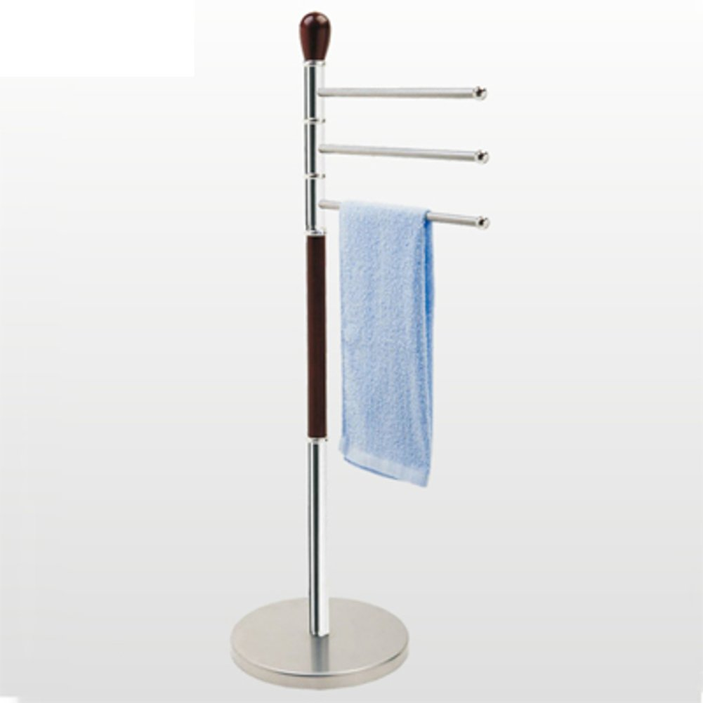 Delicate Stainless Steel Bathroom Towel Rack Revolving Towel Bathroom Punching Towels Free Floor