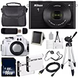 Nikon 1 J4 Mirrorless Digital Camera with 10-30mm Lens (Black) (International Model No Warranty) + Nikon WP-N3 Waterproof Housing + EN-EL22 Battery + 16GB SDHC Memory Card + 6AVE Bundle