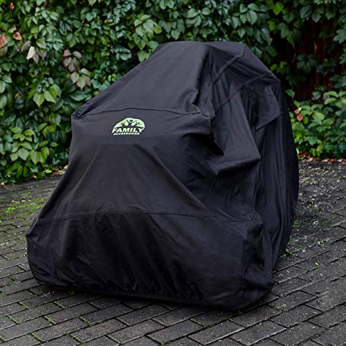 "Family Accessories Waterproof Riding Lawn Mower Cover, Heavy Duty, Durable, UV and Water Resistant Cover for Your Ride-On Garden Tractor – Up to 54"" Decks"