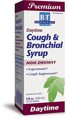 Boericke & Tafel Daytime Cough & Bronchial Syrup Non-Drowsy Homeopathic 8 Ounce (Best Daytime Cough Suppressant)