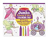 Baby : Melissa & Doug Princess & Fairy Jumbo Coloring Pad