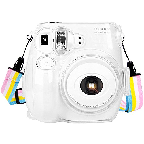 Wolven Camera Protective Case Bag Purse Compatible Fugifilm Instax Mini 7 Camera,(7S Clear) -