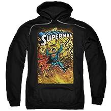 Hoodie: Superman- Fiery Strength Pullover Hoodie