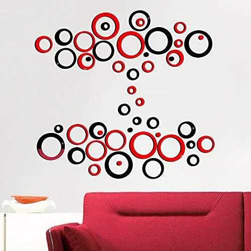 48pcs Pegatinas Pared Espejo Redondo Vinilos Adhesivos de Acrílico Decorativas DIY Decorar Hogar Habitación Dormitorio…