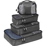 eBags Small/Medium Packing Cubes for Travel - Organizers - 4pc Set - (Titanium)