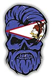 Grunge Beard Skull American Samoa Flag Sticker Decal Design 3   X 5