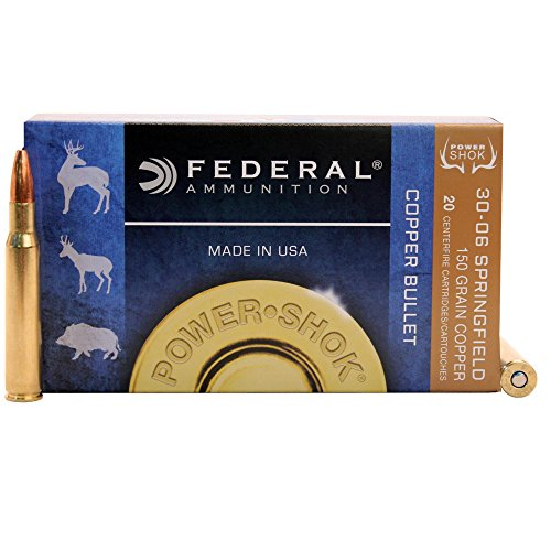 Power-Shok Rifle Ammo 30-06 Springfield 150Gr Copper, - Point Hollow Copper