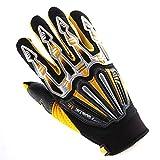 Motocross Motorcycle BMX MX ATV Dirt Bike Skeleton Racing Cycling Gloves Yellow