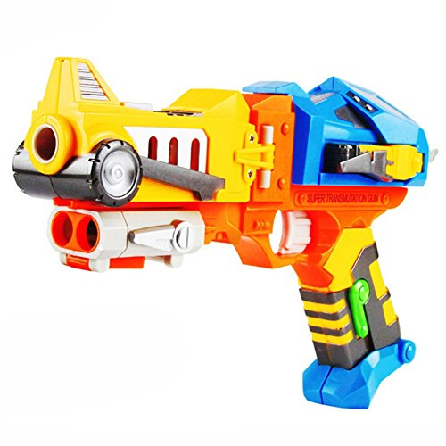 Children's Toy Colorful Toy Gun with Soft Bullets, Teach Shooter and Gun Safety, Real Dimensions, Fun Outdoor Game, Children Safe Play