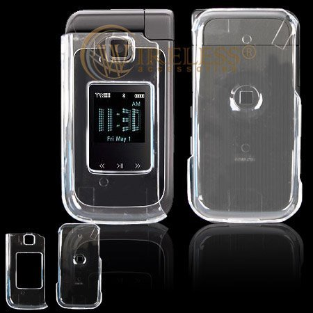 Crystal Clear Transparent Snap-On Cover Hard Case Cell Phone Protector for Samsung U750 Alias ()