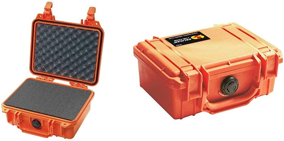 Pelican 1200 Camera Case with Foam (Orange) & 1120 Case with Foam (Orange)