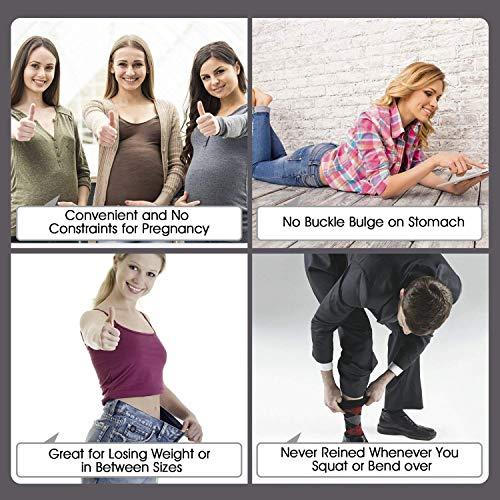 JasGood 4 Stück Unsichtbarer Gürtel Damen, Stretchgürtel Elastischer Gürtel Einstellbar, No Show Web Gürtel Komfortabel Flach Glatt Metallschnalle für Jeans Hosen Kleid