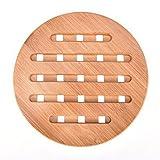 Bamboo Trivet Mat, Heavy Duty Hot Pot Holder Pads, 7.1