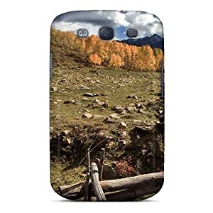 Galaxy S3 Hard Back With Bumper Silicone Gel Tpu Case Cover Rugged Fence Around A Pasture
