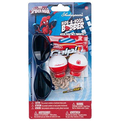 Shakespeare Hide-A-Hook Marvel Spiderman Bobber Kit
