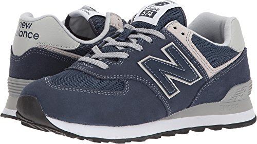 New Balance Women's 574 Core Evergreen Lifestyle Sneaker, Navy, 10.5 D US