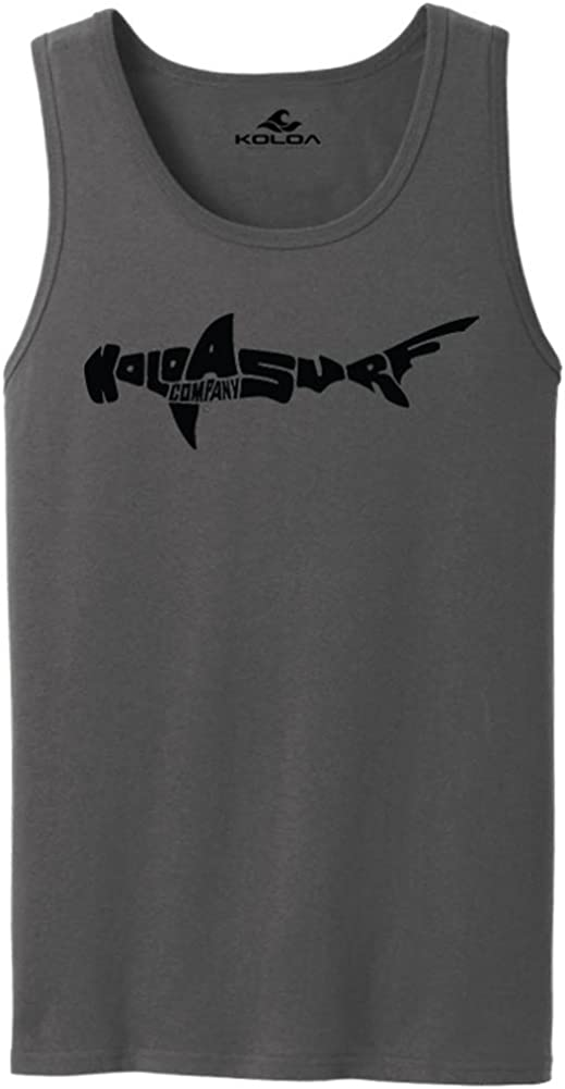 Koloa Surf Hammerhead Shark Logo Tank Tops in 27 Colors. Adult Sizes: S-4XL