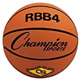 Champion Sports RBB4 Rubber Sports Ball, For Basketball, No. 6, Intermediate