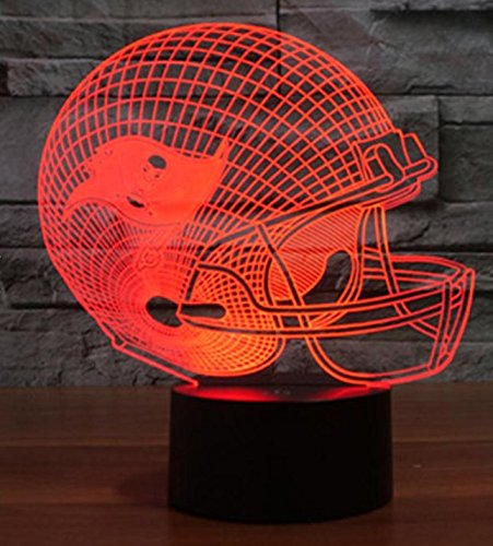 Los Angeles Chargers Touch Control Football Helmet Light Lamp- Upgraded Color Changing Touch Light Football Helmet Light Night Light for Boys Men Women Perfect Gift for Football Sports Lovers