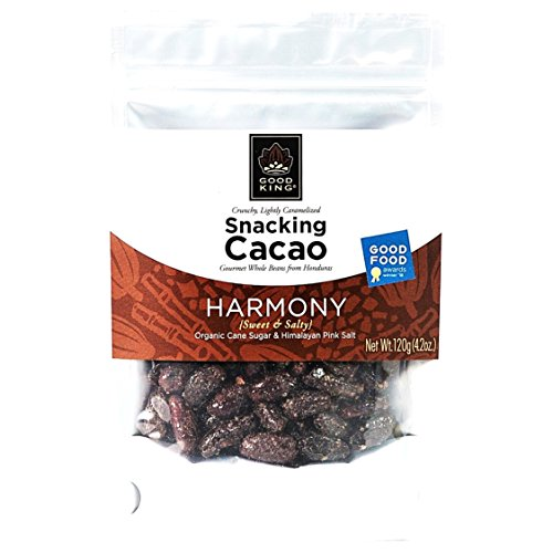- Cacao Beans Gourmet Snack Packed With HARMONY Flavor (Organic Cane Sugar & Himalayan Pink Salt) - Lightly Sweet & Salty, On the Go Snacks, Vegan, Fair Trade, Dairy-Free, GMO-Free, 120g (4.2 oz.)