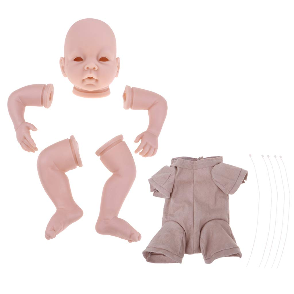 Prettyia Blank 22 inch Reborn Kit Head 3/4 Arms Full Legs Mold & Cloth Body Newborn Baby Doll Kids Birthday Gift