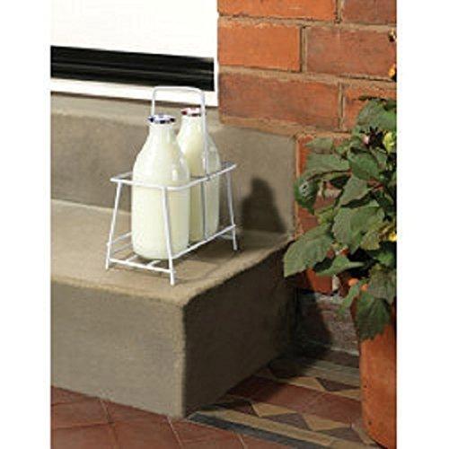 milk bottle holder carrier for 4 bottles with note holder. Black Bedroom Furniture Sets. Home Design Ideas