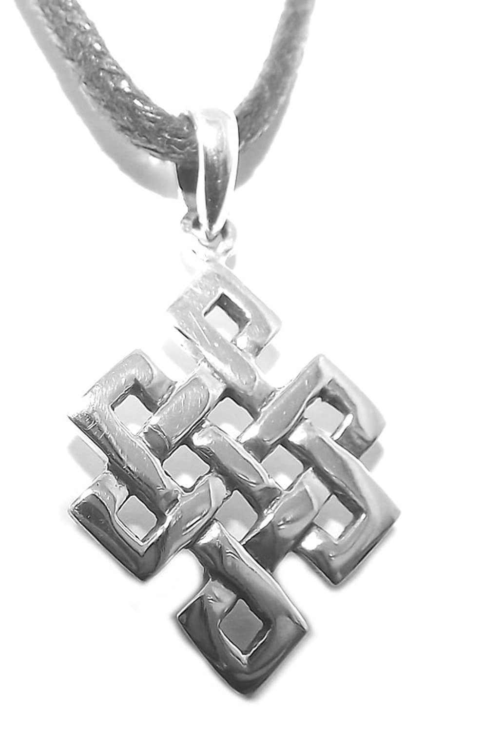 Small sterling silver buddhist eternity endless knot pendant small sterling silver buddhist eternity endless knot pendant amazon jewellery biocorpaavc Gallery