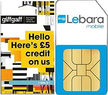 Lebara Pay as you go Micro/Standard SIM Card Pack solo 1 por ...
