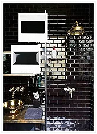 Black Glossy 3x6 Beleved Subway Ceramic Wall Tile