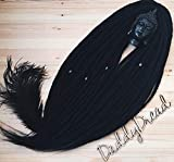 Synthetic Crochet Dreads, Synthetic dreads, de dreads, se dreads, Black, Custom Dreadlocks Extensions