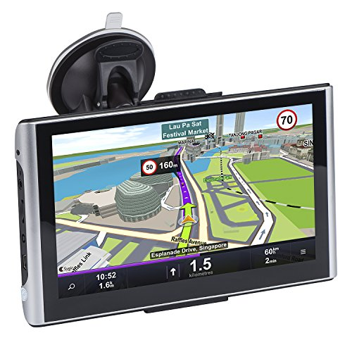 7 inch Portable Car GPS, JMHD 8GB Navigation System for Cars, Lifetime Map Updates, Real Voice Turn-to-turn Alert Vehicle GPS Navigator, Sat-Nav