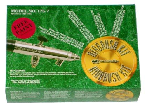 Badger Air Brush Crescendo Air Brush Set With 3 Heads BAD175-7