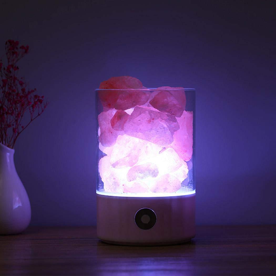 Bluefringe Night Light M2 Himalayan Crystal Salt Lamp Natural Negative Ion USB Charging Creative Gift by Bluefringe (Image #6)