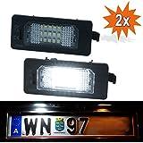 Do!LED LED Kennzeichenbeleuchtung passend für BMW E39 E60 E61 E70 E71 E82 E88 E90 E91 E92 E93 Xenon Weiss mit E-Prüfzeichen TÜV frei