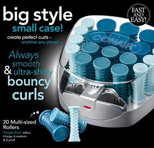 Conair Compact Hair Setter 20 Multi Sized Rollers