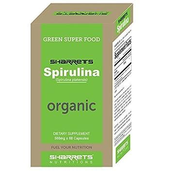 Amazon.com: Sharrets Organic Spirulina 500mg [spirulina tablets ...