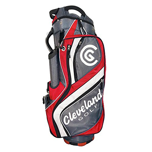 Cleveland Golf Male Cg Cart Bag, Charcoal/Red/White