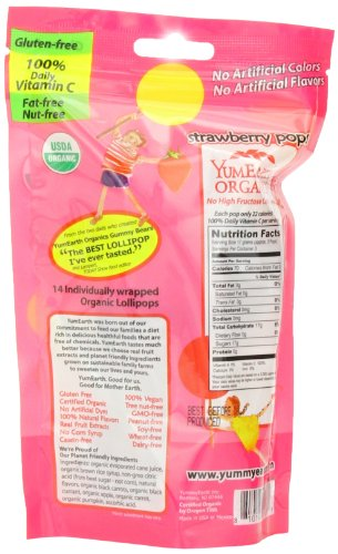 Yummy Earth Strawberry Pops, 3-Ounce (Pack of 6) by YummyEarth (Image #4)