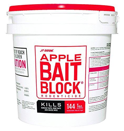 - JT Eaton 719-AP Bait Block Apple Flavor Rodenticide, 9 lb. Pail (Pack of 144)