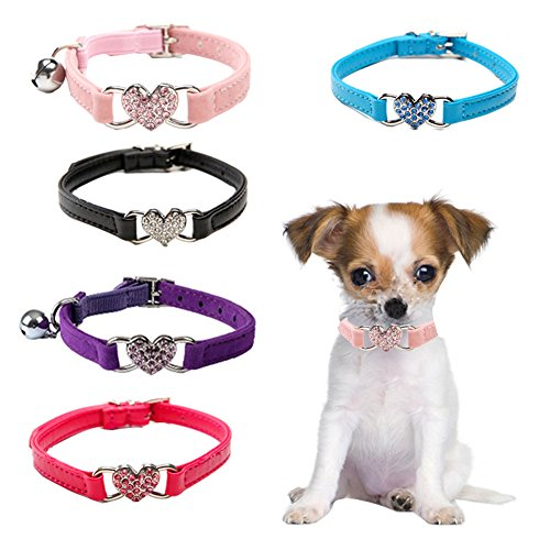 Dog Collars,5 Colors of Peach Pattern Pet Collar,Personalized Dog Collar for Cats Puppy Small Medium Dogs (Personalized Heart Heart Pattern)