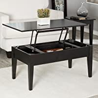 Wooden Lift Top Coffee Console Table Wood Storage Living Room Home Furniture Black