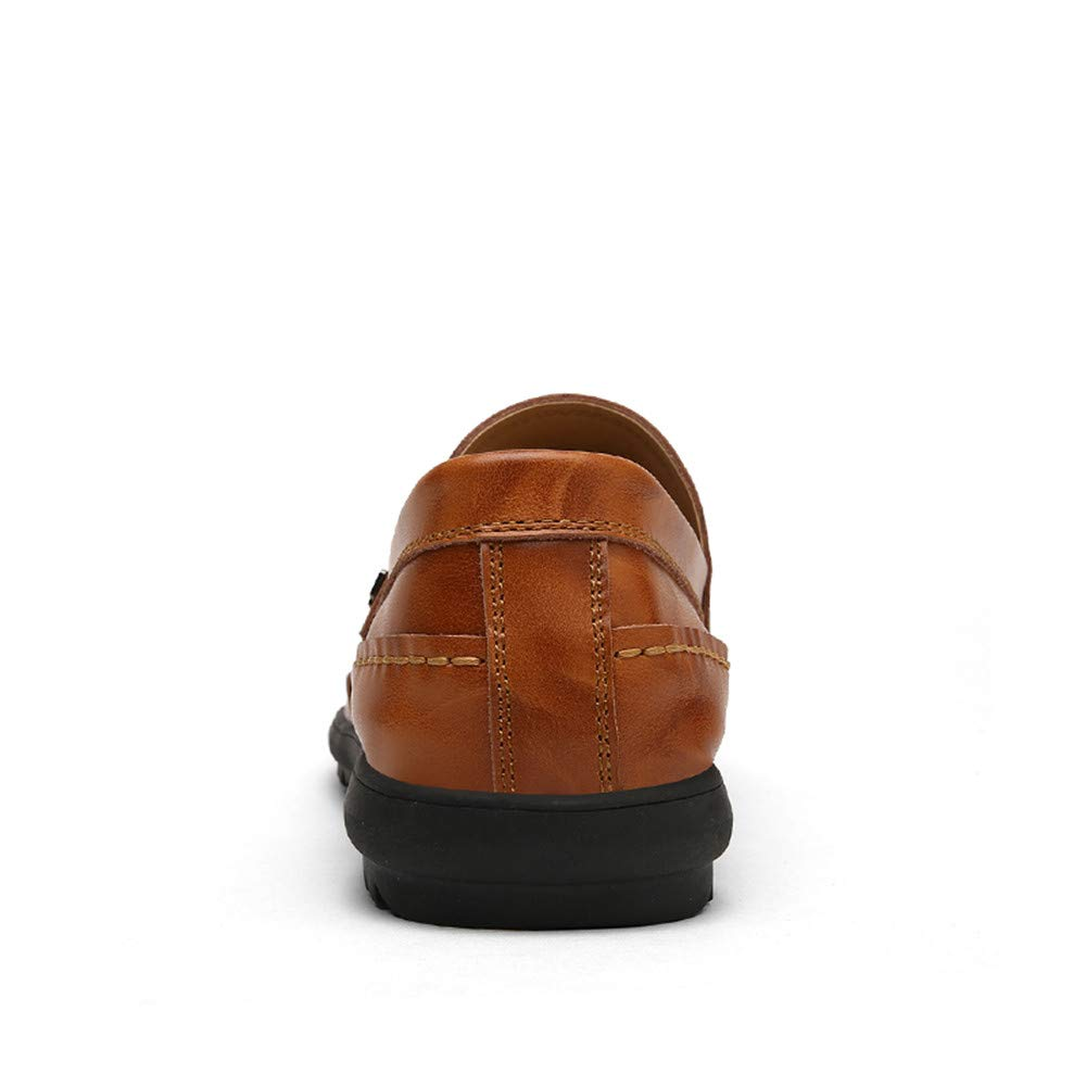 JIALUN-Schuhe Komfortable Herren-Müßiggänger für lässige und hochwertige atmungsaktive weiche Ledersohlen Ledersohlen Ledersohlen Oxford (Farbe   rot braun, Größe   39 EU)  c2f577