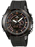 CASIO Edifice EFA-132PB-1AVEF - Reloj de caballero de cuarzo, correa de resina color negro