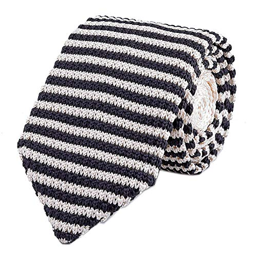- Men's Handmade Ties Fashion Black Champagne Smart-Casual Wear Dress Self Necktie