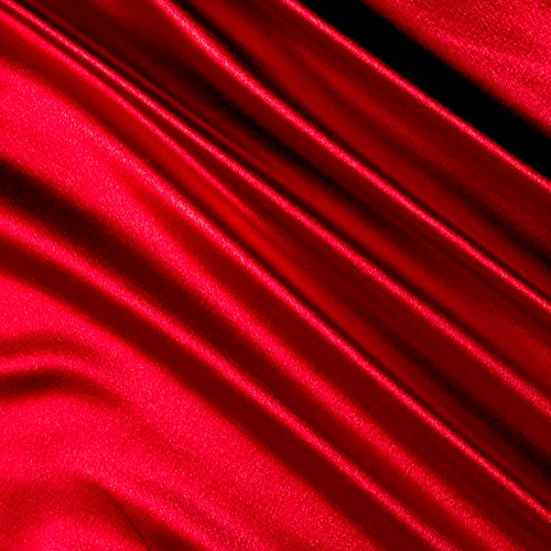 Ben Textiles Red Heavy Crepe Back Satin Fabric by The Yard