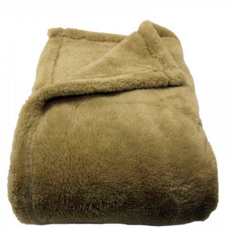 Woven Workz 078-001Q Oh So Soft Blanket, Queen, Cream