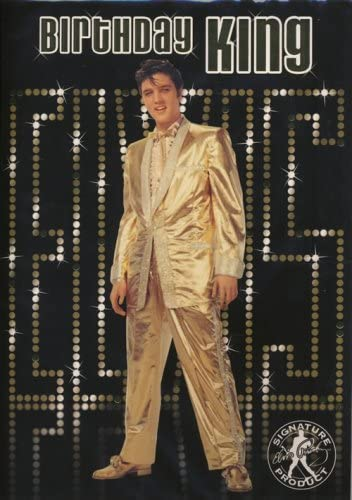 Elvis Presley - Tarjeta de felicitación con sonido, diseño de Elvis King